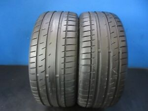 2 Used Continental Extreme Contact Dw Tuned 215 40zr18 7 32 9 10 32 Trd 1594d