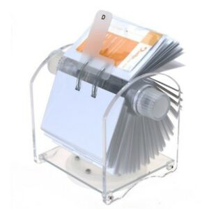 Genie Rotator Rotary File For 400 Business Cards With 24 part Register And 200