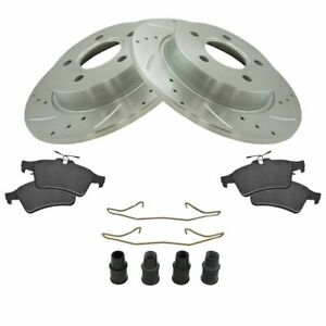 Rear Ceramic Disc Brake Pad Performance Rotor Hardware Kit For Ford Focus New