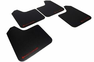 Rally Armor Universal Basic Mud Flaps Set Of 4 No Hw Black W Red Mf12 Bas Rd