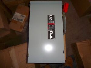 New Ge Thn3363r Safety Switch Panel 100a 600 Volt 3 Pole Outdoor 3r Nib
