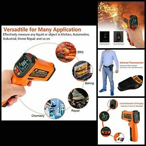 Infrared Thermometer Gun For Kitchen Meat Food Thermostat With Flashlight New