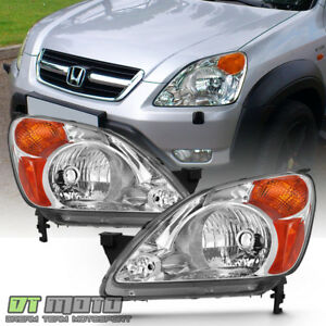 For 2002 2003 2004 Honda Crv C rv Headlights Headlamps Replacement Left right