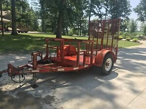 2006 Pro Hauler Skid Steer Trailer 5000lb Bumper hauls Implements