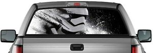 Storm Trooper Perforated Window Graphic Decal Sticker Truck Suv Van Star Wars