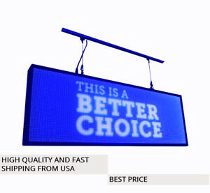 Led Sign Programmable Electronic Board Full Color Outdoor Led Display 39 x14