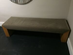 Vintage Mid Century Modern Upholstered Day Bed Bench