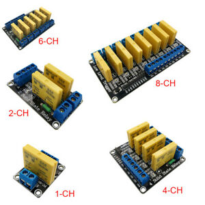 1 2 4 6 8 Channel 5v 12v 24v Dc dc Solid State Relay Module Low Level 40v 5a Pic