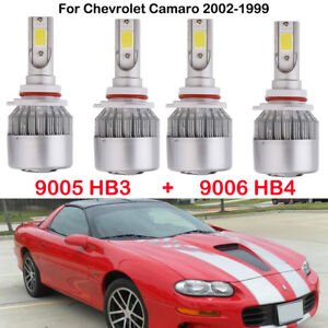 9005 Hb3 9006 Hb4 Led Headlight Bulbs For Chevrolet Camaro 2002 1999 Replace Hid