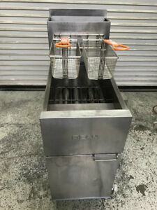 Deep Fryer Natural Gas New Baskets Dean Sr142gn 8557 Commercial Restaurant Nsf