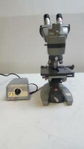American Optical Spencer Trinocular Microscope W 4 Objectives And Power Supply