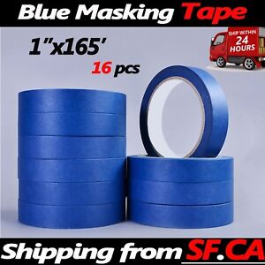 Masking Tape Clean Peel Uv Resistant Painting Adhesive Craft 1 x165ft 16 Rolls