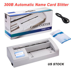 110v 220v 90x54mm Automatic Name Card Slitter Business Name Card Cutter A4 Size