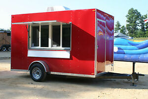 2018 7 X 12 Shaved Ice Concession Trailer with Equip