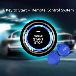 12v Car Auto Engine Push Start Stop Button Ignition Starter With 2 Rfid Key