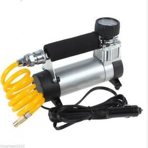 12v Car Electric Mini Compact Compressor Pump Tyre Air Inflator cable