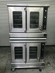 Double Stack Gas Convection Ovens Montague 115 Commercial Bakery Oven Nsf 8559