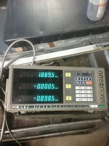 Mitutoyo Kc 33 Digital Readout Dro Box 3 Axis _with Scales_at102_39 25 24 15