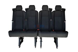 2015 2016 2017 2018 Ford Transit 4 Passenger 50 50 Split Bench Seat Black Cloth