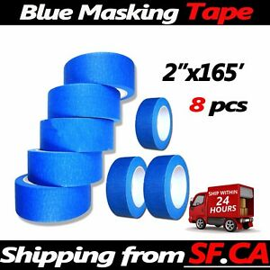 8 R 2 x165 Blue Painters Tape Clean Release Trim Edge Finishing Masking Tape