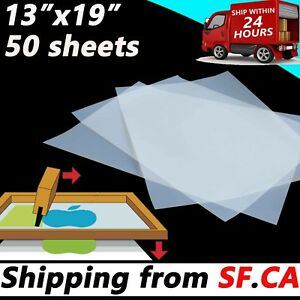 13x19 50 Sheets waterproof Instant dry Inkjet Transparency Film Screen Printing