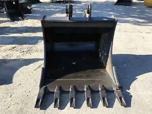 New 36 Heavy Duty Excavator Bucket For A Takeuchi Tb175 W Coupler Pins