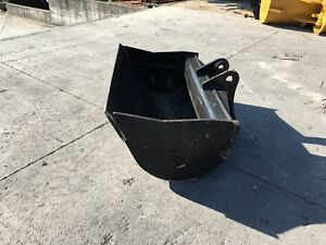 New 48 Takeuchi Tb175 Heavy Duty Ditch Cleaning Bucket W Coupler Pins