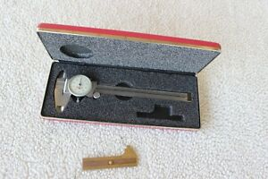 American Made Starrett 6 Inch Dial Caliper 120 Machinist Tools