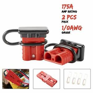 2 X Battery Cable Winch Quick Connect Disconnect Plug Kit 1 0 Awg 175a 600v