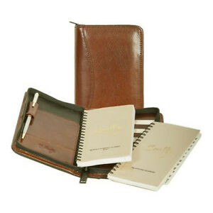 Scully Leather Zip Pocket Planner Tobacco 5008z 45 174 f