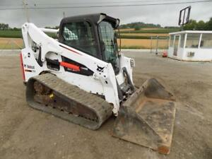 2013 Bobcat T770 Skid Steer Loader Erops Ac heat 2 Speed 92 Hp Kubota Diesel