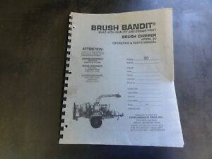 Brush Bandit Model 90 Brush Chipper Operating And Parts Manual