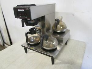 bunn Vp17 3 H d Commercial nsf S s pour over Coffee Brewer W 3 Pots
