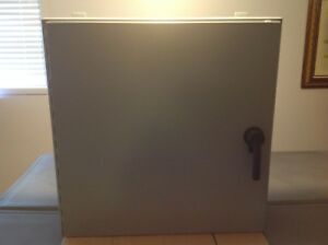 Hoffman A30h30blp3pt 30 X 30 X 8 Enclosure With Piano Hinge And Latch Nema 4