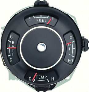 Oer 2196365 1963 1964 Chevy Nova Ss Instrument Gauge Cluster Fuel Temp Oil Batt