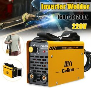 200amp Portable Inverter Welder Welding Machine Mma Zx7 200 Igbt Dc 220v Can