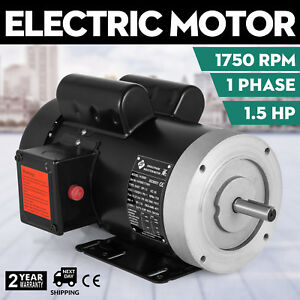 141556c Electric Motor 1 5hp 1phase 1750rpm 5 8 shaft Machinery Insulation F 56c