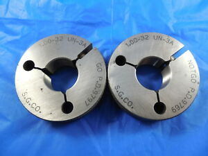 1 32 Un 3a Thread Ring Gages 1 00 Go No Go P d s 9797 9769 Inspection