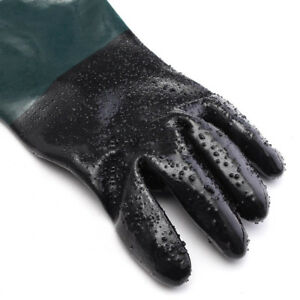 2 Pairs 7x24 Pvc Sandblasting Gloves For Sandblast Cabinets Protection Tool