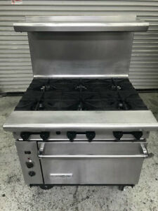 36 Range Convection Oven Gas American Range Ar 6c Burner Nsf 8588 Commercial