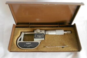 Nsk Japan Digital 0 1 Inch 0 0001 Micrometer 550 601 With Carbide Tips