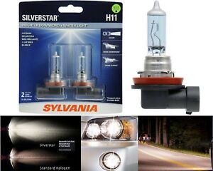 Sylvania Silverstar H11 55w Two Bulbs Head Light Low Beam Replacement Upgrade