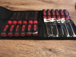 New Snap On 12pc Red Mini Screwdriver Set Torx Awl Hook Pic Sgmini12ar