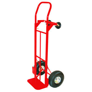 Milwaukee 800 Lb Capacity Hand Truck Convertible 4 Wheel Dolly Moving Cart