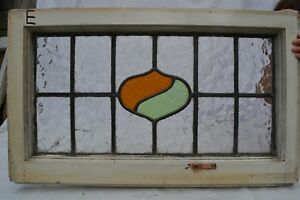 1 Art Deco Leaded Light Stained Glass Window Panels Above Door Size B631e