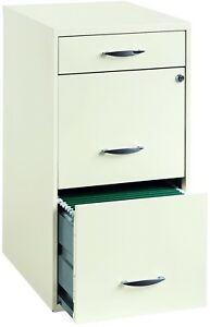 Office Designs 3 drawer White Steel File Cabinet