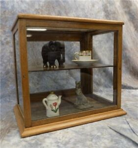Wooden Framed Glass Vintage Showcase Country General Store Counter Top Display K