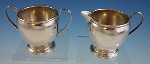 Preisner Sterling Silver Sugar And Creamer Set 2pc 6 2593