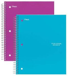 Five Star Spiral Ebooks 3 Subject College Ruled Paper 150 Sheets 11 X 8 1 2
