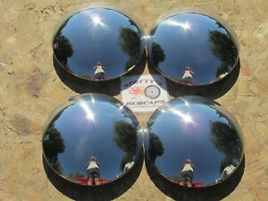 1967 82 Chevy Corvette Camaro Chevelle Rally Wheel Baby Moon Hubcaps Set Of 4